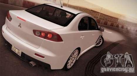Mitsubishi Lancer Evolution для GTA San Andreas вид слева