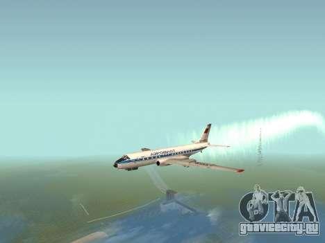 Ту-104А для GTA San Andreas вид сзади слева