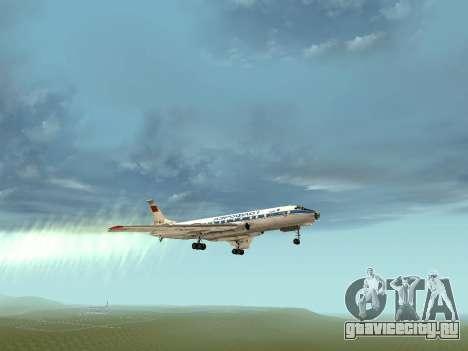 Ту-104А для GTA San Andreas вид сверху