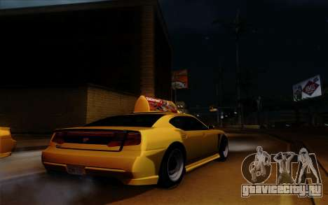 Buffalo Taxi для GTA San Andreas вид изнутри