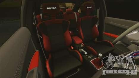 Mitsubishi Lancer Evolution X FQ400 для GTA 4 вид снизу
