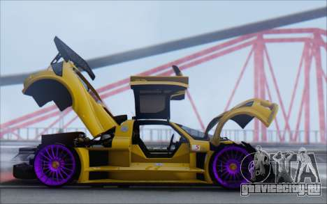Gumpert Apollo S Autovista для GTA San Andreas вид изнутри