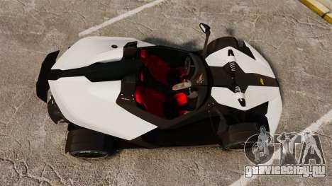 KTM X-Bow R для GTA 4 вид справа