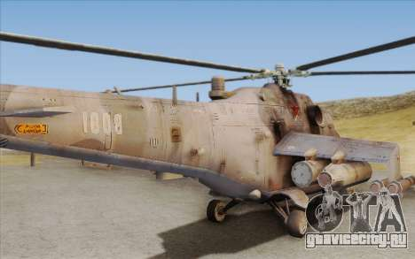 Mi-24D Hind from Modern Warfare 2 для GTA San Andreas вид сзади