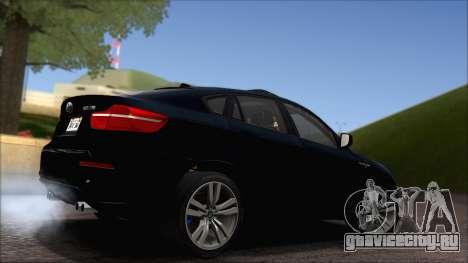 BMW X6M E71 2013 300M Wheels для GTA San Andreas вид сбоку