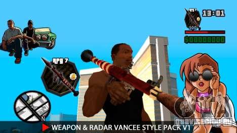 Оружие и радар VanCee Style Pack v1 для GTA San Andreas девятый скриншот