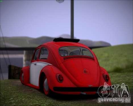 Volkswagen Beetle Stance для GTA San Andreas вид справа
