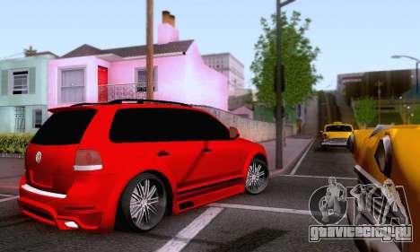 Volkswagen Touareg Mansory для GTA San Andreas вид изнутри