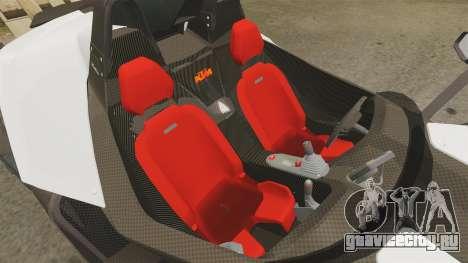 KTM X-Bow R для GTA 4 вид изнутри