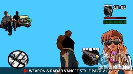 Оружие и радар VanCee Style Pack v1 для GTA San Andreas четвёртый скриншот