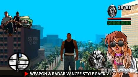 Оружие и радар VanCee Style Pack v1 для GTA San Andreas второй скриншот