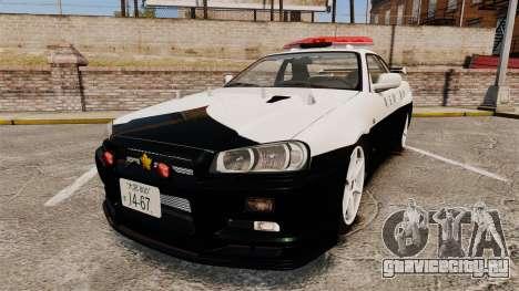Nissan Skyline GT-R R34 Saitama Police для GTA 4