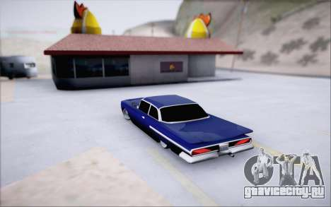 Voodoo Low Car v.1 для GTA San Andreas вид сзади
