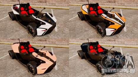 KTM X-Bow R для GTA 4 вид сбоку