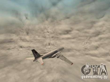 Ту-104А для GTA San Andreas вид сбоку