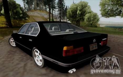 BMW 540i (E34) для GTA San Andreas вид сзади