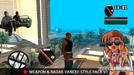 Оружие и радар VanCee Style Pack v1 для GTA San Andreas третий скриншот