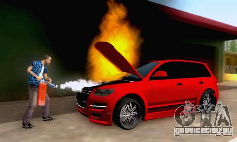 Volkswagen Touareg Mansory для GTA San Andreas вид сверху