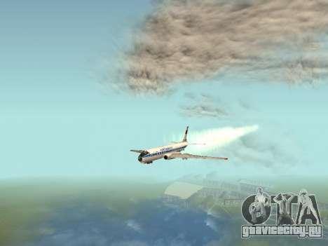 Ту-104А для GTA San Andreas вид изнутри