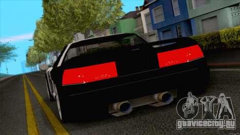 Infernus Police для GTA San Andreas вид сзади слева