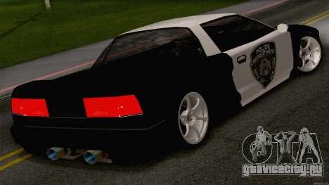 Infernus Police для GTA San Andreas вид слева