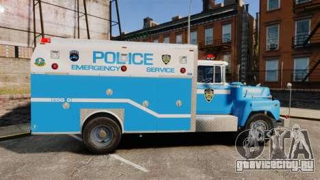 Mack R Bronx 1993 NYPD Emergency Service [ELS] для GTA 4 вид слева