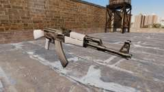 Автомат АК-47 Chrome для GTA 4