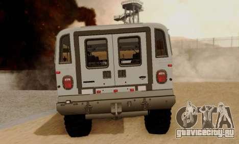 Hummer H1 Alpha для GTA San Andreas вид сзади слева