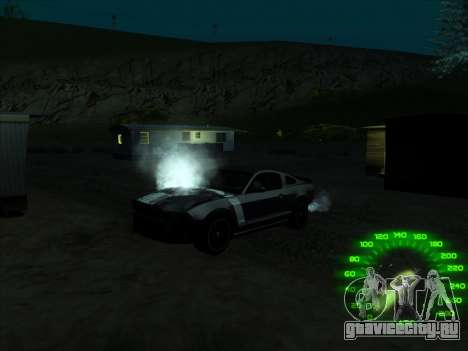 Спидометр в стиле neon для GTA San Andreas третий скриншот