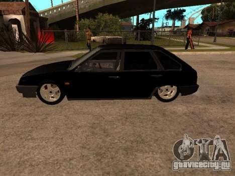 ВАЗ 2109 Бандит V 1.0 для GTA San Andreas вид изнутри
