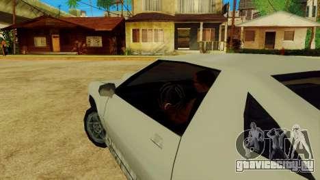 Вращающийся руль для стандартных автомобилей для GTA San Andreas пятый скриншот