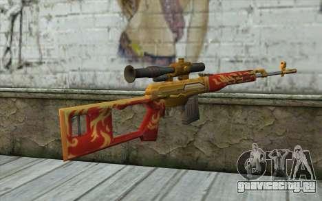 Снайперская Винтовка Драгунова (Point Blank) для GTA San Andreas второй скриншот