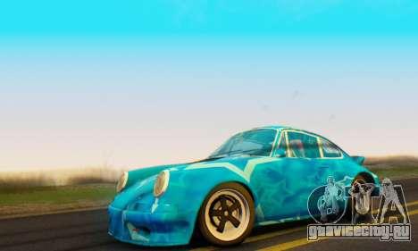Porsche 911 Blue Star для GTA San Andreas вид сзади слева