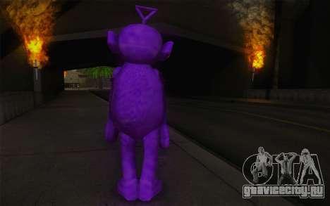 Тинки-Винки из телепузиков для GTA San Andreas второй скриншот