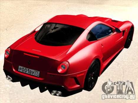 Ferrari 599 GTO для GTA San Andreas вид справа