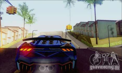 Zentorno GTA 5 V.1 для GTA San Andreas вид справа