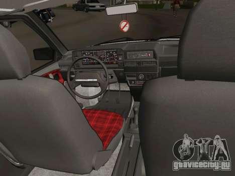 ВАЗ-21093 для GTA San Andreas вид изнутри