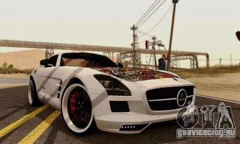 Mercedes SLS AMG Hamann 2010 Metal Style для GTA San Andreas вид сзади слева