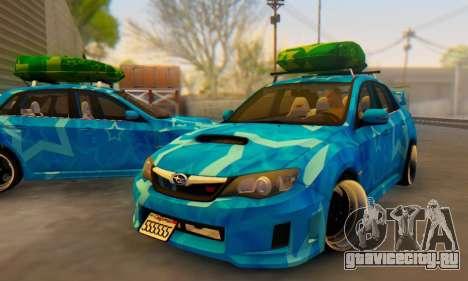 Subaru Impreza Blue Star для GTA San Andreas салон