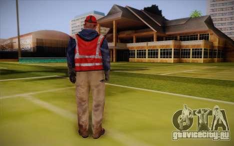 Дорожный рабочий для GTA San Andreas второй скриншот
