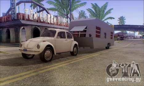 Прицеп Caravan для GTA San Andreas вид сзади слева