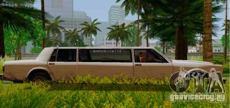 Greenwood Limousine для GTA San Andreas вид слева