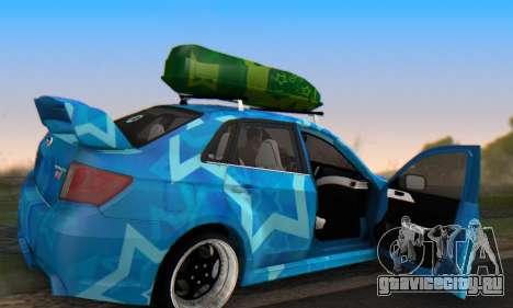 Subaru Impreza Blue Star для GTA San Andreas вид сверху