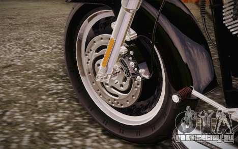 Harley-Davidson Fat Boy Lo 2010 для GTA San Andreas вид изнутри
