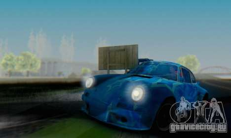 Porsche 911 Blue Star для GTA San Andreas вид сзади