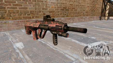 Автомат Steyr AUG-A3 Red tiger для GTA 4