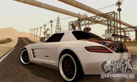 Mercedes SLS AMG Hamann 2010 Metal Style для GTA San Andreas вид справа