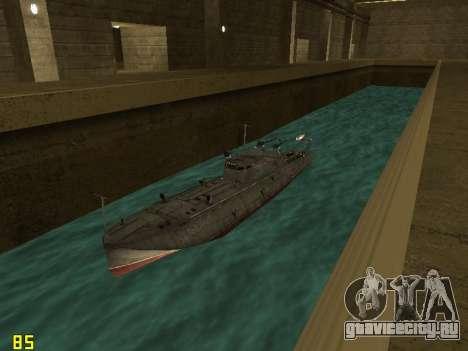 Торпедный катер типа Г-5 для GTA San Andreas вид сзади