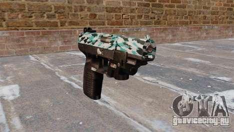 Пистолет FN Five-seveN LAM Aqua Camo для GTA 4