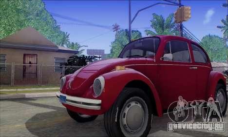 1973 Volkswagen Beetle для GTA San Andreas вид изнутри